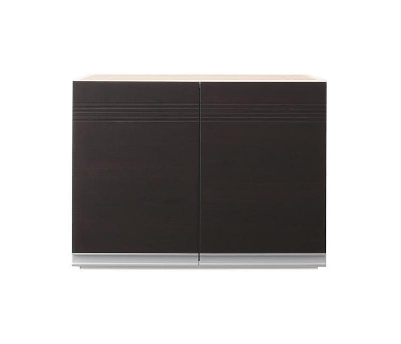 【送料無料】奥行41cmの薄型モダンデザインキッチン収納シリーズ 〔Sfida〕スフィーダ 〔上棚単品〕 W60 ダークブラウン【代引不可】