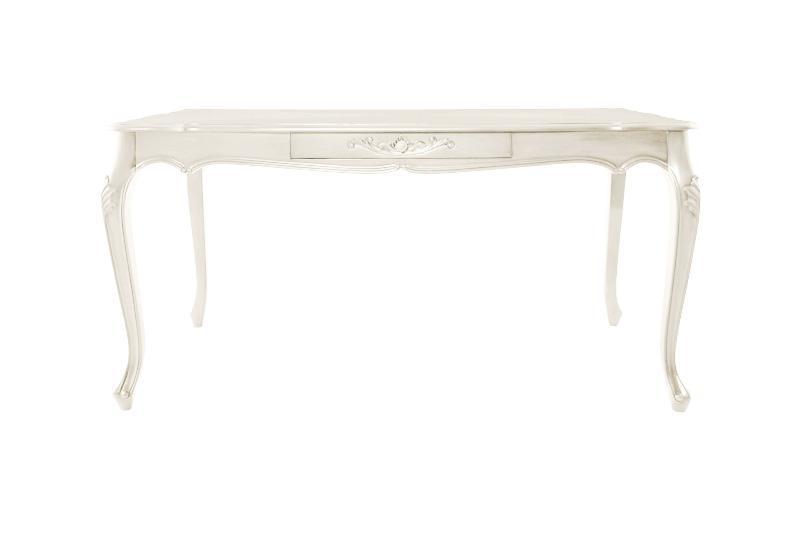 【送料無料】アンティーク調クラシックダイニング 〔Francoise〕フランソワーズ ダイニングテーブルのみ(W150) 単品販売 ホワイト【代引不可】