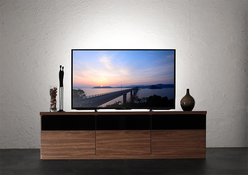 【送料無料】キャビネットが選べるテレビボードシリーズ 〔add9〕アドナイン テレビボード単品(W140) ウォルナットブラウン【代引不可】
