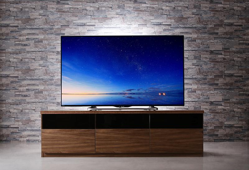 リビングボードが選べるテレビ台シリーズ 〔TV-line〕テレビライン テレビボード単品 幅140cm ウォルナットブラウン【代引不可】