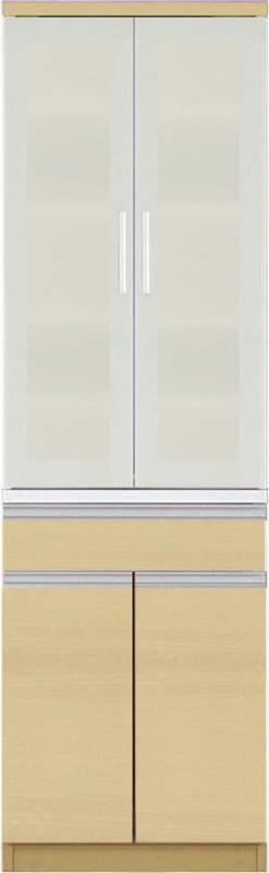【送料無料】大型レンジ対応 清潔感のある印象が特徴のキッチン収納シリーズ Ethica エチカ ダイニングボード単品 高さ193 ホワイト【代引不可】