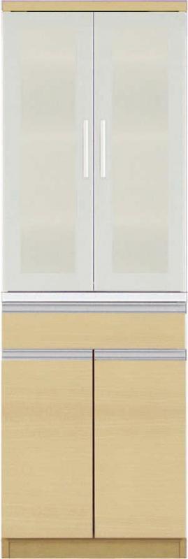 【送料無料】大型レンジ対応 清潔感のある印象が特徴のキッチン収納シリーズ Ethica エチカ ダイニングボード単品 高さ178 ナチュラル【代引不可】