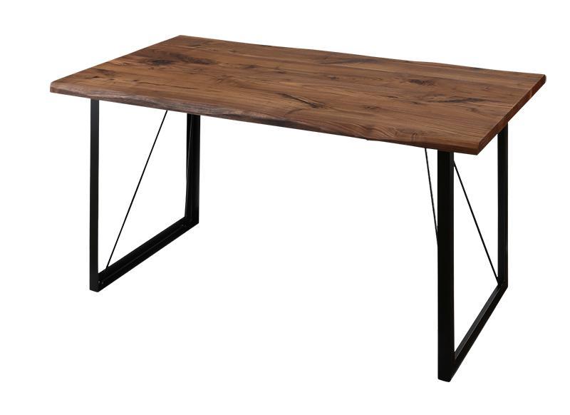 【送料無料】天然木ウォールナット無垢材ヴィンテージデザインダイニングシリーズ 〔Detroit〕デトロイト ダイニングテーブル単品 W150 ウォールナットブラウン【代引不可】