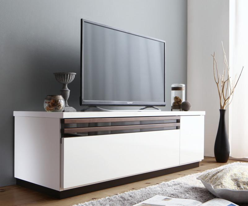 【送料無料】国産 完成品 デザインテレビボード 〔Willy〕ウィリー 120cm ホワイト【代引不可】