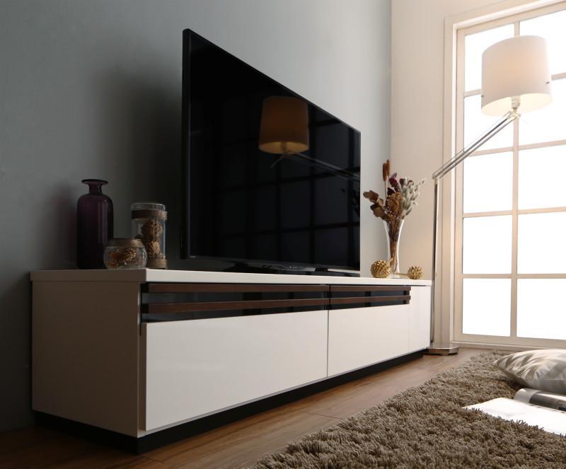 【送料無料】国産 完成品 デザインテレビボード 〔Willy〕ウィリー 180cm ブラウン【代引不可】
