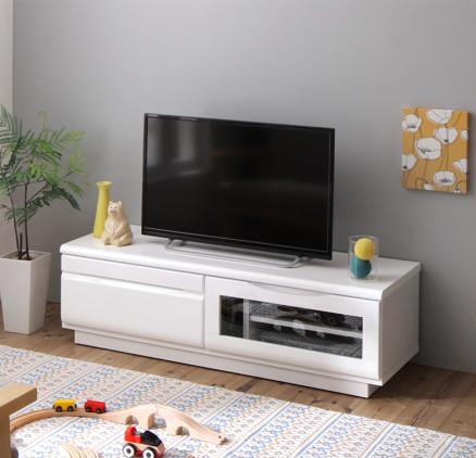 【送料無料】完成品 シンプルデザイン テレビボード 〔Dotch〕ドッチ 幅120 ブラウン【代引不可】