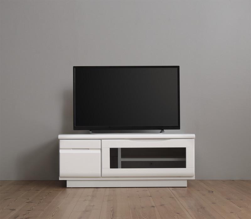 【送料無料】完成品 シンプルデザイン テレビボード 〔WHITV〕ホワイティヴィ 幅90 シャインホワイト【代引不可】