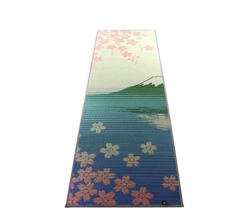 11柄から選べる デザイン国産畳ヨガマット SAKURA富士 60×180cm SAKURA富士【代引不可】【北海道・沖縄・離島配送不可】