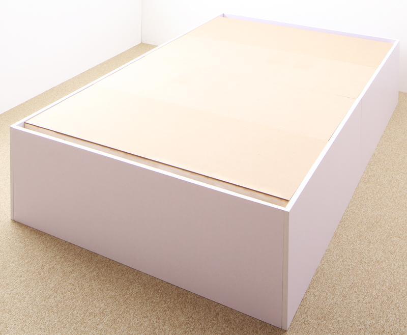【送料無料】大容量収納庫付きベッド 〔SaiyaStorage〕サイヤストレージ 〔ベッドフレームのみ・マットレスなし〕 深型 ベーシック床板 シングル 〔フレーム色〕ウォルナットブラウン【代引不可】