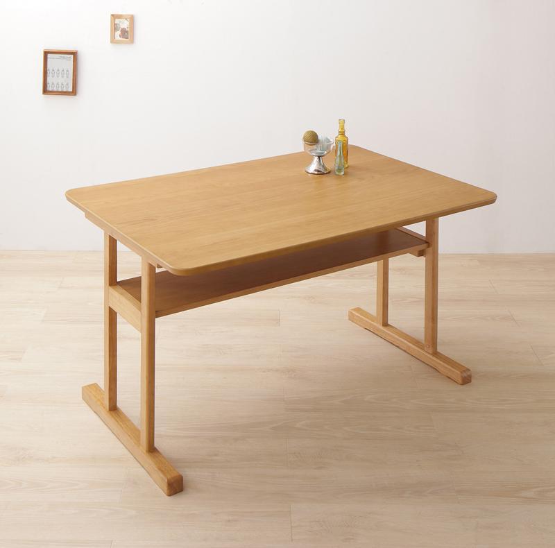 北欧 2本脚テーブル・回転イスダイニングシリーズ 〔woda〕ヴォダ ダイニングテーブル単品 W120 ナチュラル【代引不可】