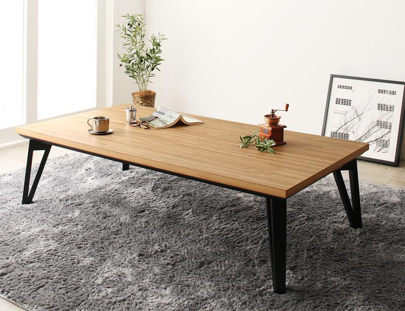 【送料無料】天然木北欧モダンデザインフラットヒーターこたつ 〔Ares〕アーレス こたつテーブル 5尺長方形(80×150cm) オークナチュラル【代引不可】