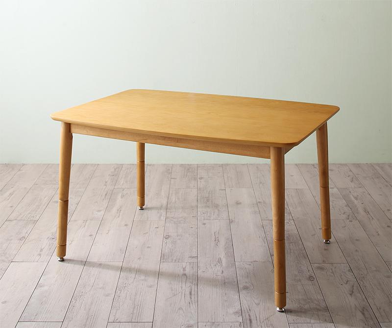 【送料無料】こたつもソファも高さ調節 リビングダイニング 〔Maine〕メーヌ ダイニングこたつテーブル単品 W105 オークナチュラル【代引不可】