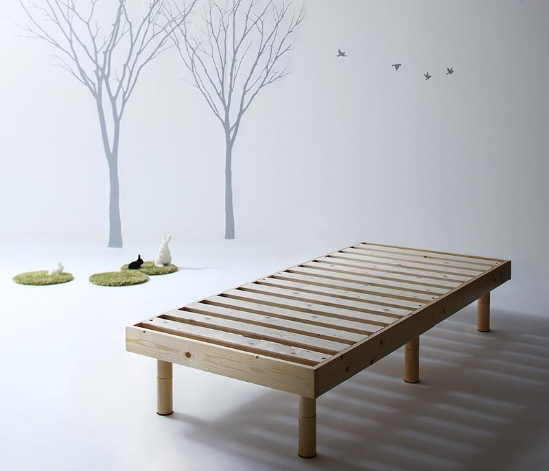 コンパクト天然木すのこベッド 〔minicline〕ミニクライン 〔ベッドフレームのみ・マットレスなし〕 セミシングル ショート丈 〔フレーム色〕ホワイト【代引不可】