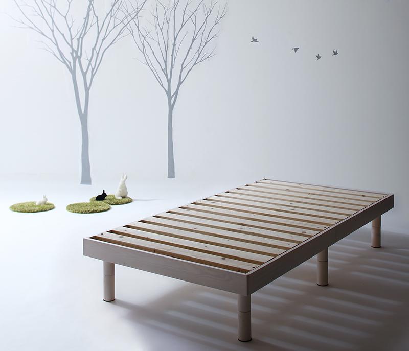 コンパクト天然木すのこベッド 〔minicline〕ミニクライン 〔ベッドフレームのみ・マットレスなし〕 シングル ショート丈 〔フレーム色〕ホワイト【代引不可】