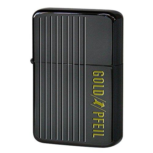 GOLD PFEIL(ゴールドファイル) USB 充電 バッテリー ライター spira(スパイラ) ブラックチタンコーティング GP-6001BK