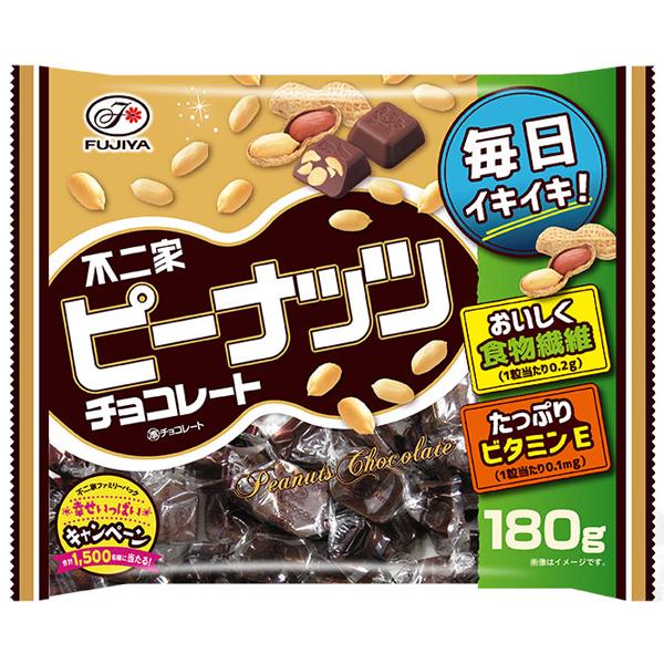 不二家 ピーナッツチョコレート 180g×36個入り (1ケース) (MS)