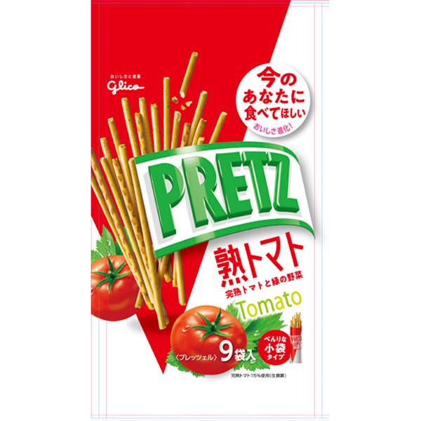 グリコ プリッツ熟トマト9袋 134g×48個入り (1ケース) (YB)