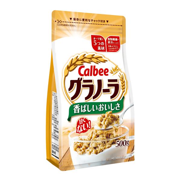 甘くない。香ばしいおいしさ カルビー グラノーラ 500g×8個入り (1ケース) (SB)