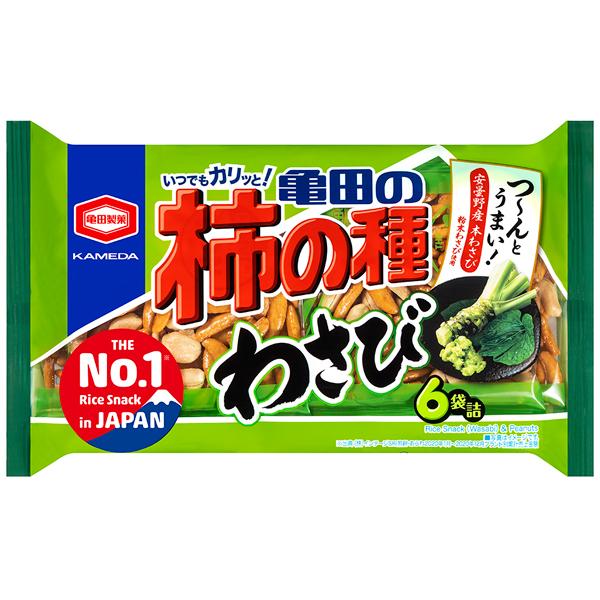 つ~んとうまい わさび柿の種 亀田製菓 亀田の柿の種わさび6袋詰 販売 173g×12個入り 1ケース 中古 YB