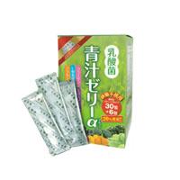 乳酸菌青汁ゼリーα 540g(15g×36包) スティックタイプ あおじる プラセンタエキス コラーゲン LGAアミノ酸 健康補助食品 キャッシュレス 5%消費者還元