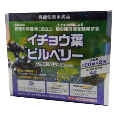 フラボンベリーα(420mg×120粒)2個セット イチョウ葉 ビルベリー ルテイン アスタキサンチン 機能性表示食品 父の日