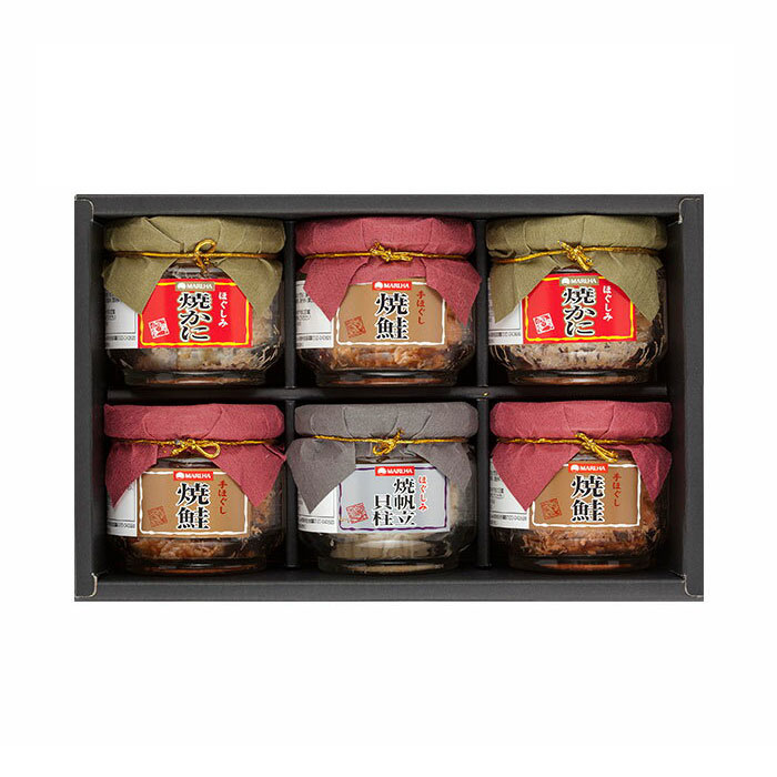 【送料無料】[2箱セット]マルハニチロ 鮭・蟹・帆立瓶詰詰合せ MIB-50(1箱あたり3,100円)