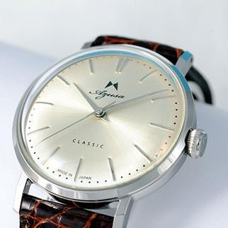 腕時計 アズサクラシック Azusa classic シャンパンゴールド メカニカル 手巻 本ワニ革ベルト 日本製 オリジナル腕時計 メンズ レディース【送料無料】
