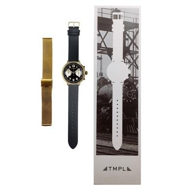 腕時計 TMPL テンプル メッシュベルトセット 1910s-CG01GB ゴールド/文字盤ブラック メンズ レディース【送料無料】