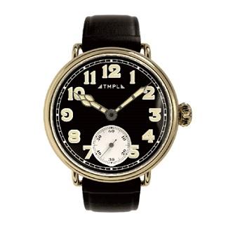 腕時計 TMPL テンプル 1910s-SS01GB ゴールド/文字盤ブラック クオーツ スモールセコンド メンズ レディース