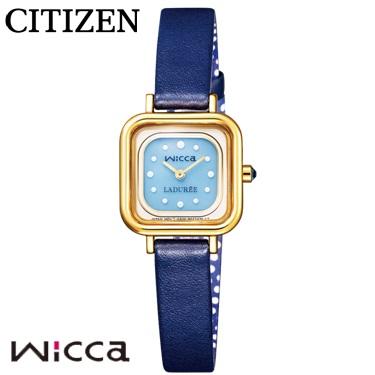 シチズン CITIZEN ウィッカ wicca 腕時計 KK3-310-10 ラデュレ LADUREE コラボ 限定モデル ソーラー レディース