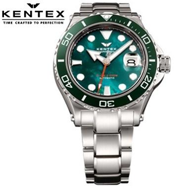 ケンテックス 腕時計 KENTEX S706M-17 MARINEMAN SEAHORSE II ダイバーウォッチ グリーン 自動巻 日本製 限定モデル メンズ【送料無料】