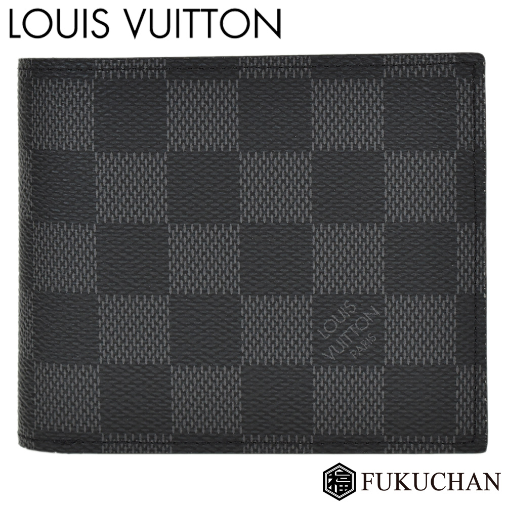 【LOUIS VUITTON/ルイ・ヴィトン】ダミエ・グラフィット ポルトフォイユ・アメリゴNM N60053 【中古】≪送料無料≫