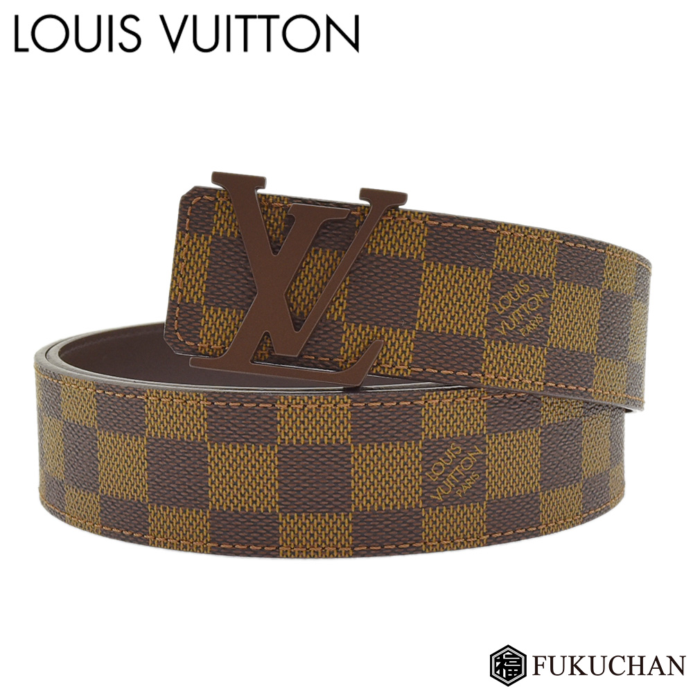 【LOUIS VUITTON/ルイ・ヴィトン】サンチュール・LV イニシアル 40MM ダミエ M9807T 【中古】≪送料無料≫