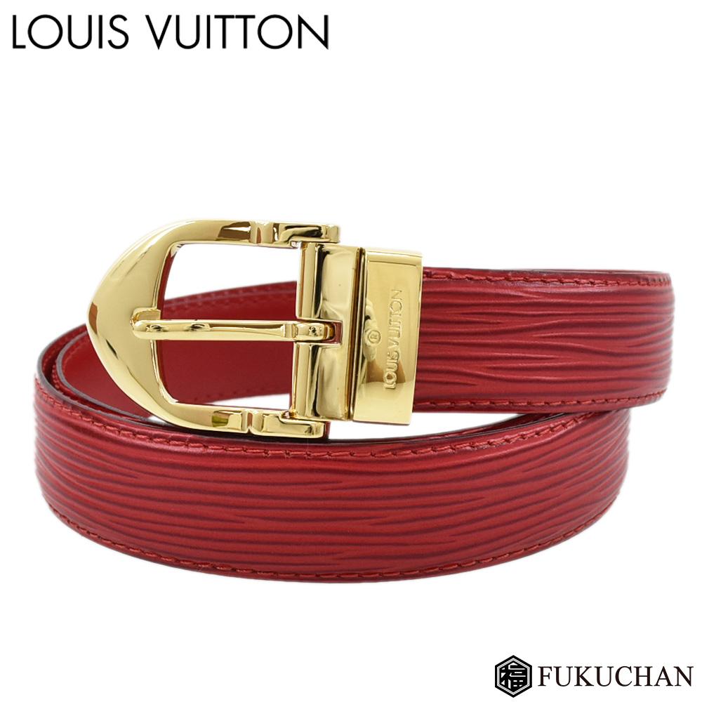 【LOUIS VUITTON/ルイ・ヴィトン】エピ サンチュール クラシックカスティリアンレッド R15007 【中古】