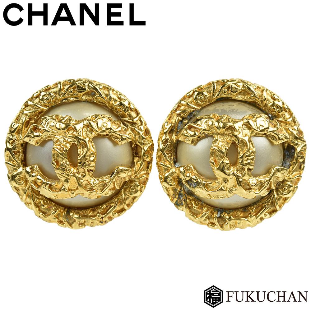 Brand Shop FUKUCHAN: 22,000 yen → 19,000 yen here mark X pearl round earrings 93A GP X fake ...
