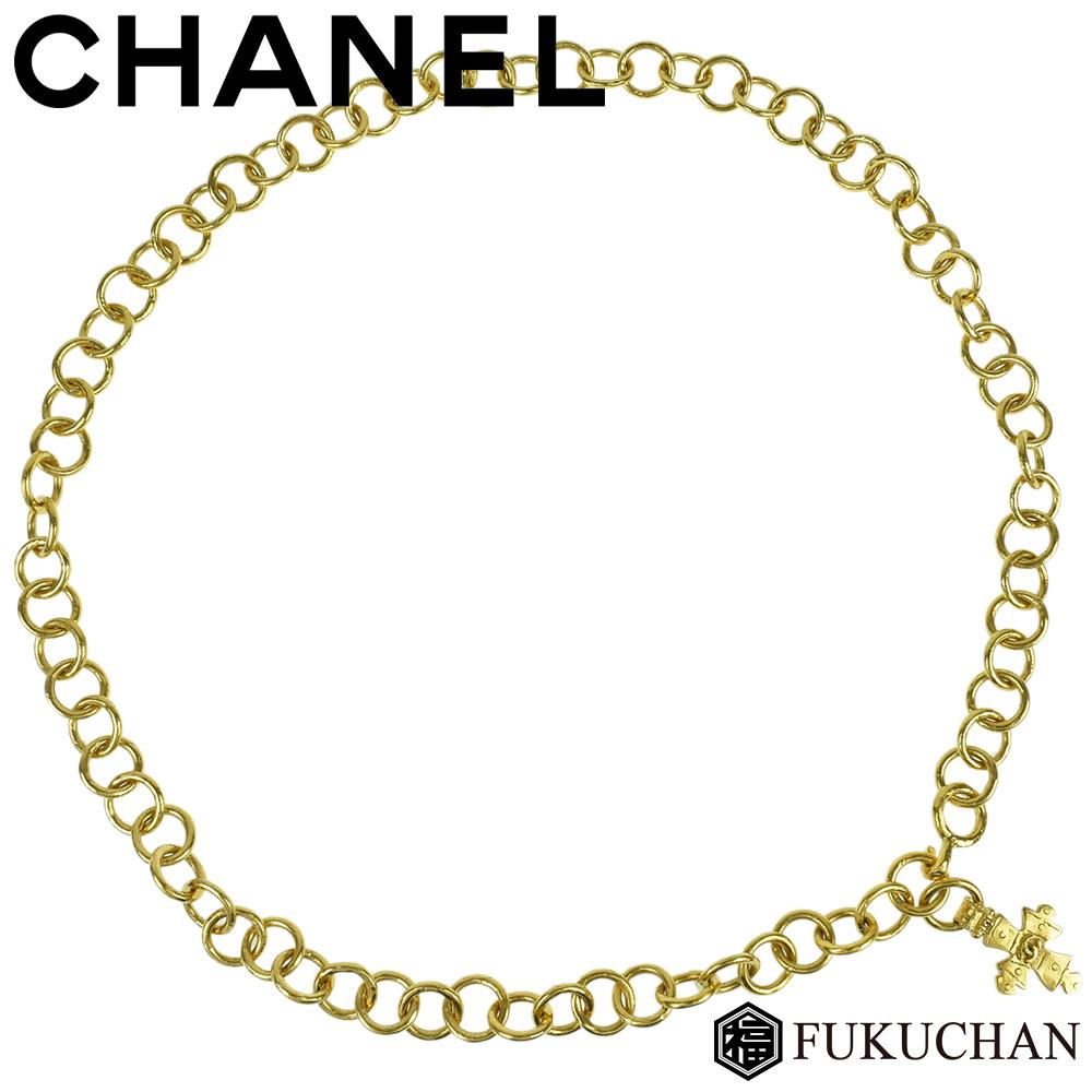 【CHANEL/シャネル】ココマーク クロスモチーフ ゴールド チェーンベルト 94P 【中古】