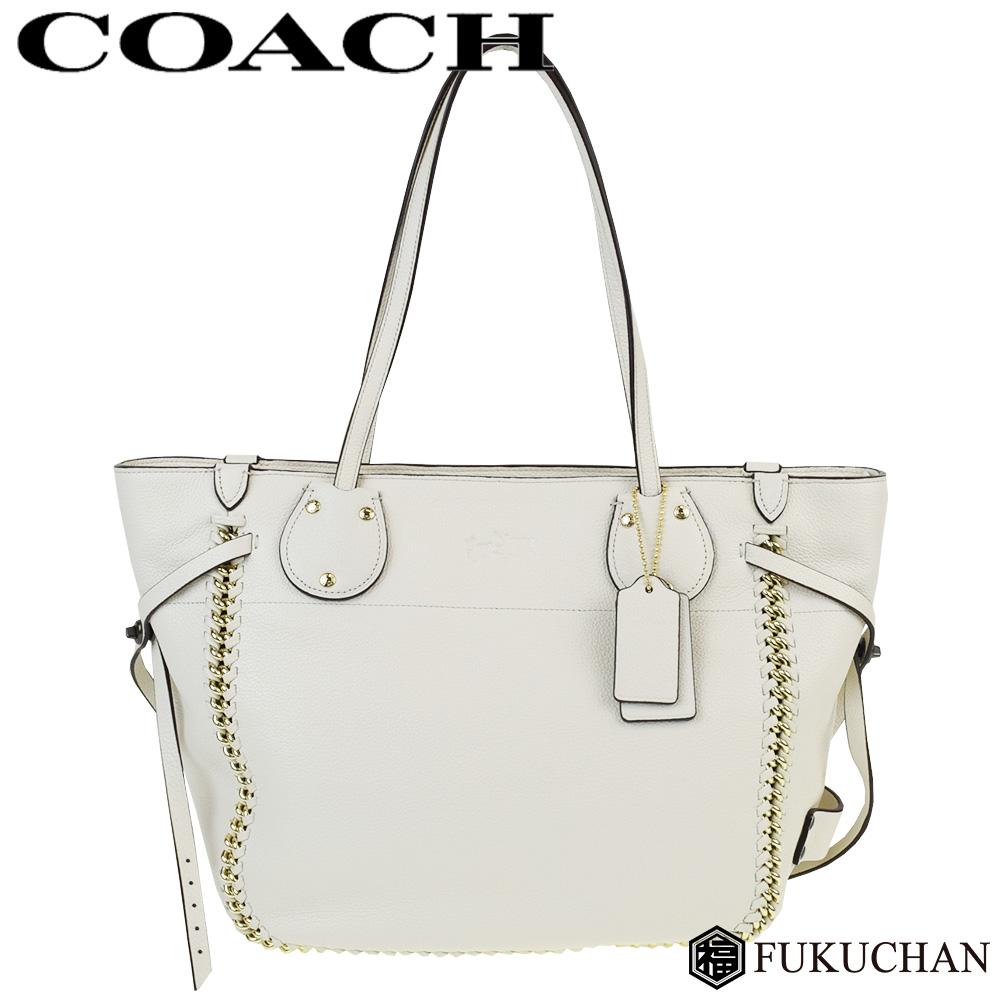 633d3275a105 【COACH/コーチ】テータム ウィップラッシュ レザー トートバッグ チョーク(ホワイト)×