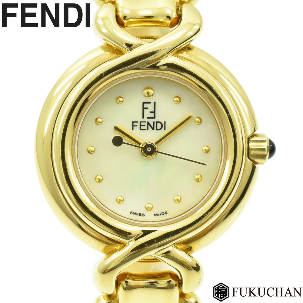 34ca8b21f5 【FENDI/フェンディ】チェンジベルトウォッチゴールド×シルバーギョーシェ文字盤GP×