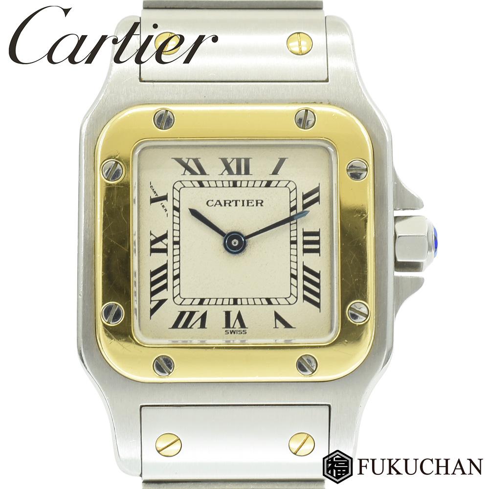 【Cartier/カルティエ】サントスガルベSM レディース ウォッチ SS×K18YG/クオーツ W20012C4 【中古】≪送料無料≫
