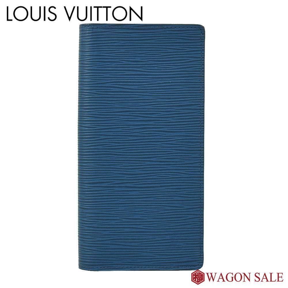 【LOUIS VUITTON/ルイ・ヴィトン】エピ ポルトフォイユ・ブラザ ブルーセレスト M60616 【中古】≪送料無料≫