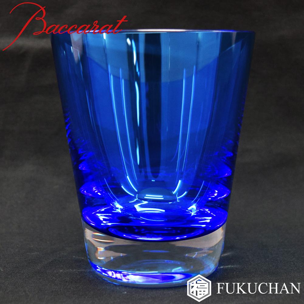 【Baccarat/バカラ】モザイク ベビータンブラー ロックグラス 1客 ブルー 青 2103910【中古】