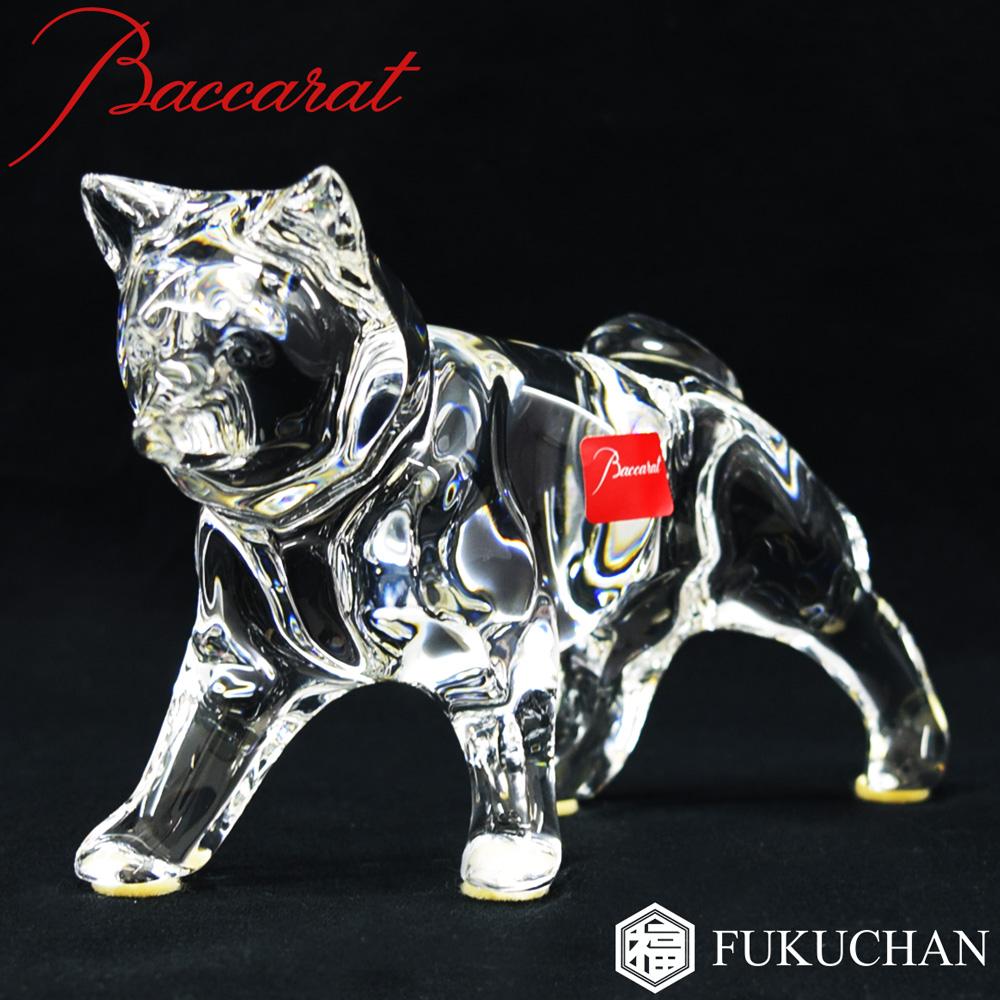 【Baccarat/バカラ】干支 戌/いぬ フィギュリン 置物 2006 2106211 【中古】