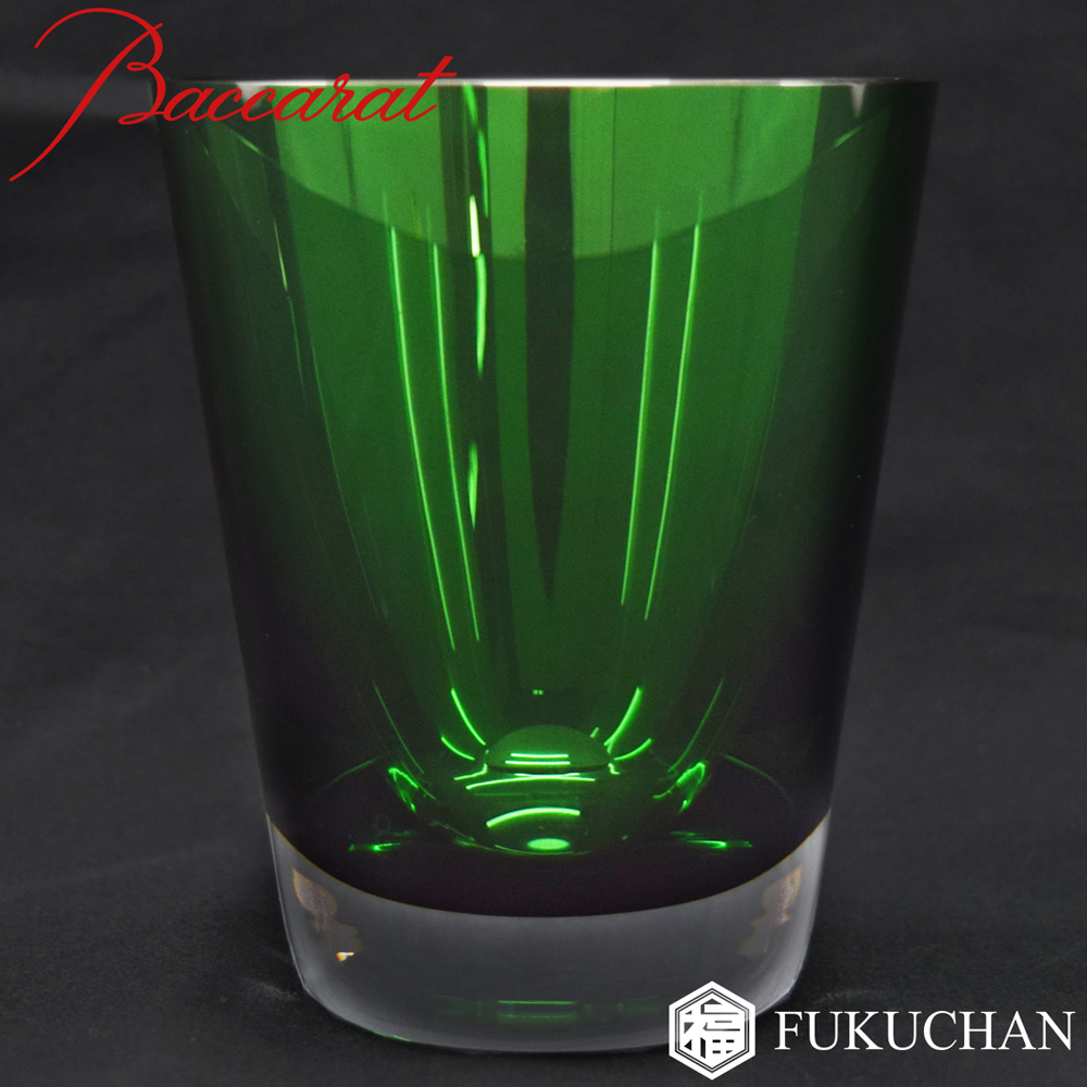 【Baccarat/バカラ】モザイク ベビータンブラー ロックグラス 1客 グリーン 緑2103594【中古】