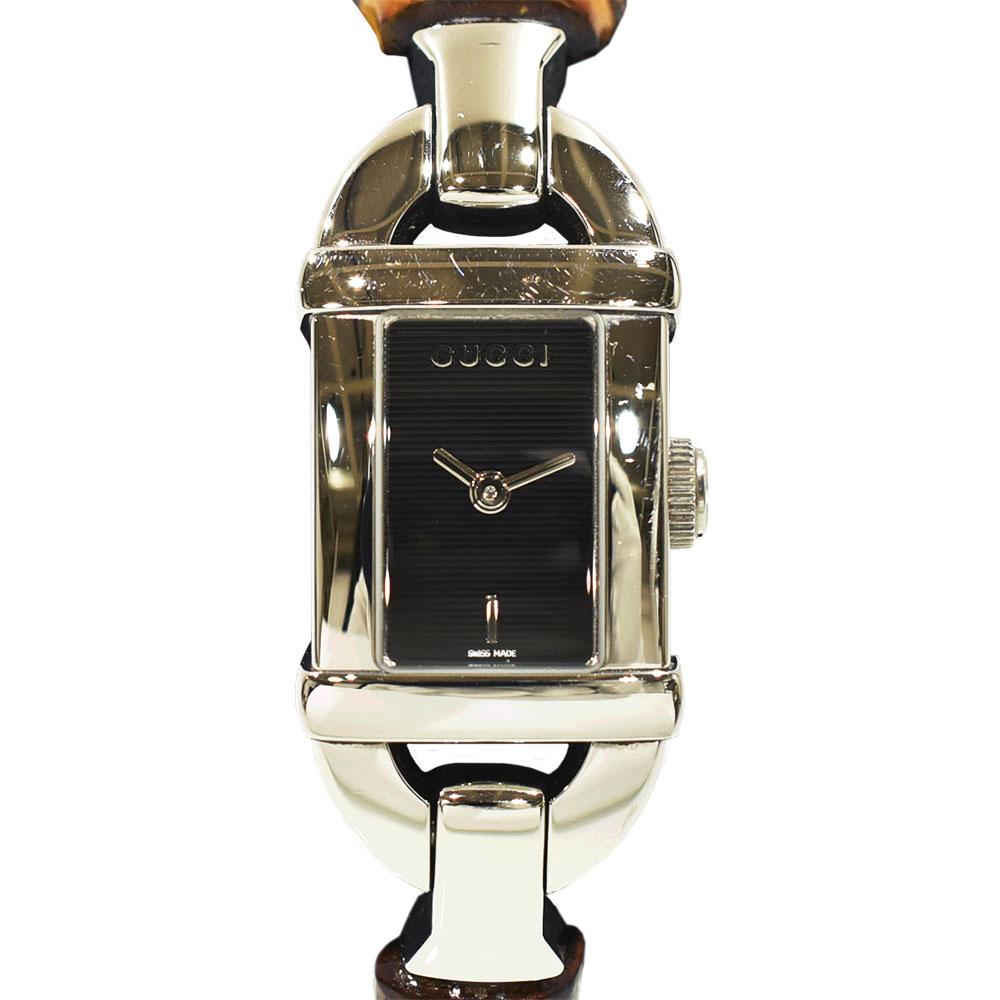 ◆19000円 → 17800円◆GUCCI グッチ バンブー ウォッチ レディース腕時計 6800L SS× バンブー レディース【中古】