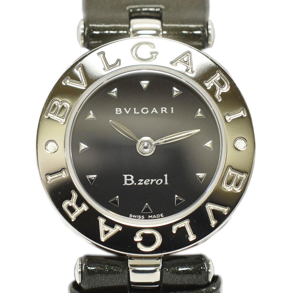 BVLGARI ブルガリ B zero1 ビーゼロワン レディースウォッチ腕時計 黒文字盤 カーキ×シルバー エナメル×SSクォーツ BZ22S送料無料SMqVUzpG