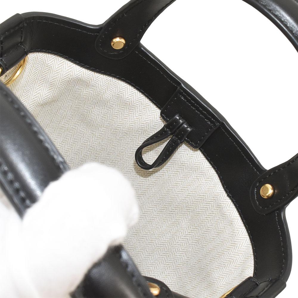 Tory Burch トリーバーチ ハンドバッグ ミラー ミニ バケット バッグ 2way ショルダーバッグ レザー ブラック 55222 001 レディース MILLER MINI BUCKET BAG 美品送料無料wOZilkPXuT