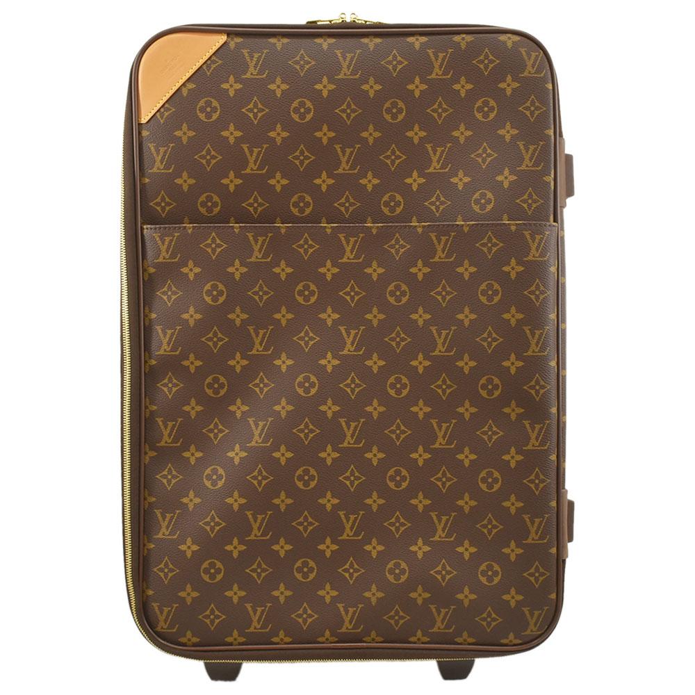 LOUIS VUITTON ルイ・ヴィトン キャリーバッグ モノグラム ぺガス55 トロリー スーツケース 旅行バッグ M23294 ユニセックス【中古】【送料無料】