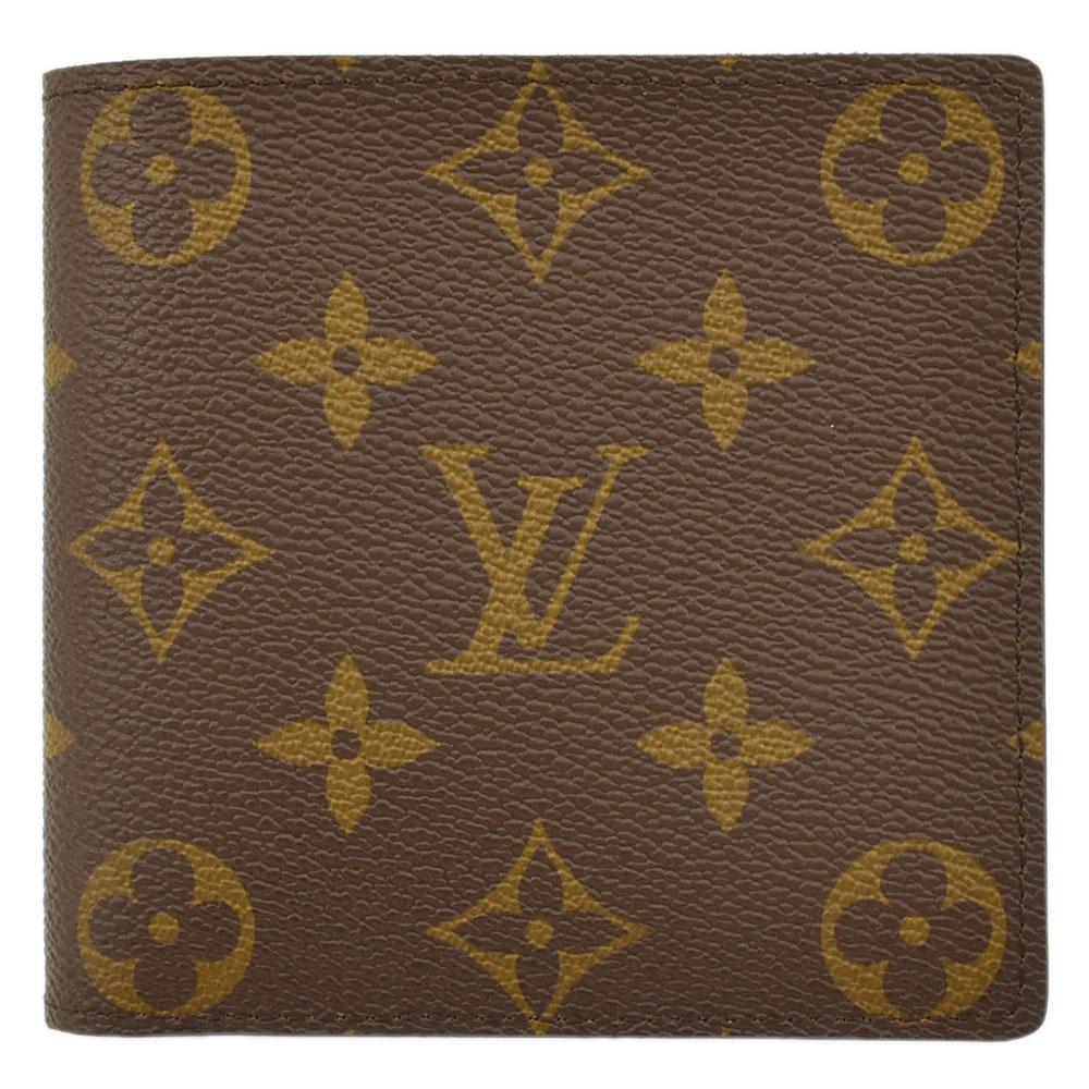 LOUIS VUITTON ルイ・ヴィトン 二つ折り財布 モノグラム ポルトフォイユ マルコ M61675 ユニセックス【中古】【送料無料】