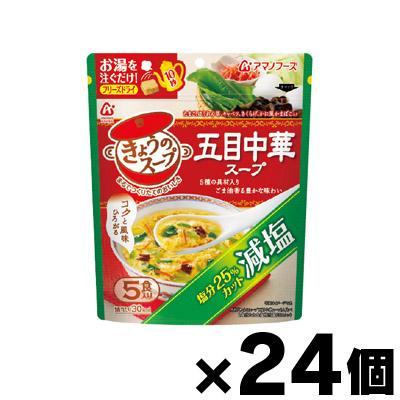 送料無料 アマノフーズ 減塩きょうのスープ 五目中華スープ 24 オーバーのアイテム取扱☆ 4971334208843 格安 5食×24個