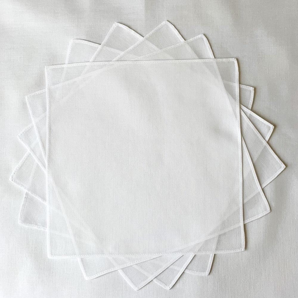 お受験ハンカチ 20cm10枚組 日本製透け感が人気の60 ローン素材の小さなハンカチ刺#32353;や染色などアレンジ自在の 無地ハンカチ です ゆうパケット送料無料 ハンカチ 白 ※アウトレット品 綿100% 刺繍 染色 ローン 無地 ブライダルハンカチマスクの中に挟めるサイズ 豪華な 日本製 60